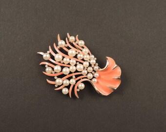 Coral Branch Pin Trifari