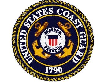 U.S Coast Guard Embroidery Design