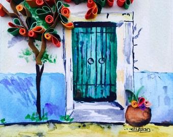 """Quilled paper art """"Door to the heaven"""""""