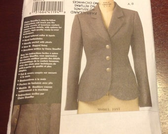 Vogue Claire Shaefer's Custom Couture Collection V8333 Petite Jacket Semi Fitt ed  Sewing Pattern FW 18 20 22 New Uncut FF