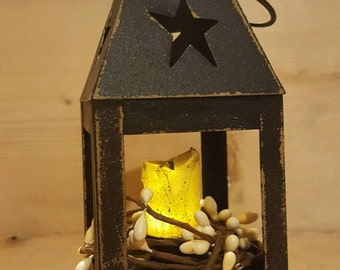 Mini Primitive Rustic Candle Lantern