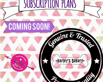SUBSCRIPTION PLANS coming soon! (Read listing for more info!)