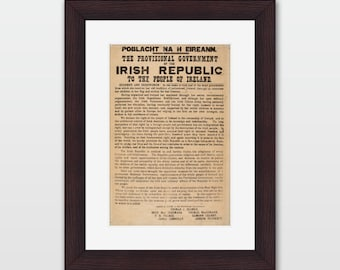 1916 Irish Proclamation - Framed Print