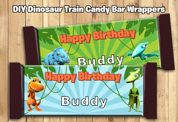 Dinosaur Train Inspired Candy Bar Wrappers Download Dinosaur Train Chocolate Bar Wrappers Dinosaur Train Chocolate Bar Wraps 1.5 oz 43g