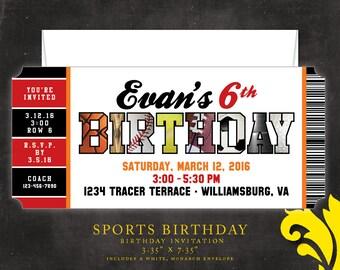 SPORTS . birthday invitation