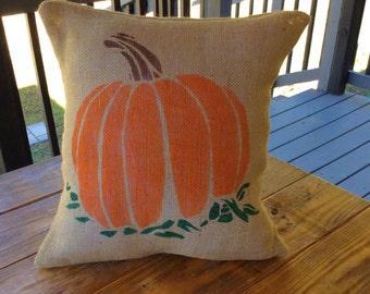 Pumpkin Pillow, Thanksgiving Pillow, Fall Greetings Pillow, Halloween Pillow, Fall Pillow, Fall Decor, Pumpkin Pillow Cover, Custom Pillow