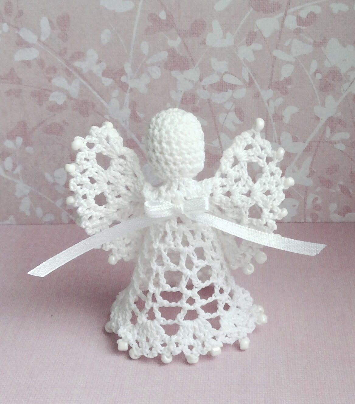 Crochet Angel Baptism Gift Christmas Lace Angel Ornament Tree: Sale Lace Angel Christmas Angel Chrochet Ornament Beaded Angel