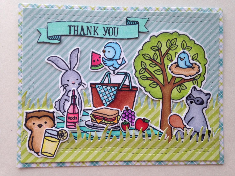 Homemade Cute Summer Card Thank You Greeting Card Blank