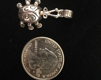 Sterling silver turtle pendant