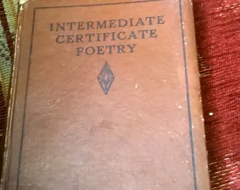 Intermediate certificate poetry book
