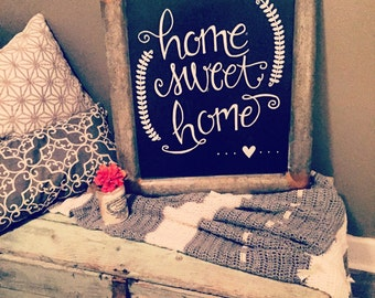 Home Sweet Home Metal Chalkboard sign, home sweet home, chalkboard sign, home decor, great gift