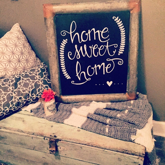 Home Sweet Home Metal Chalkboard sign, home sweet home, chalkboard sign, home decor, great gift