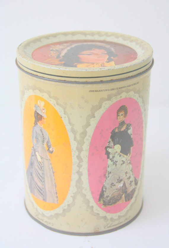 Vintage Macintosh Quality Street Tin Can, Canister, Costume Decor