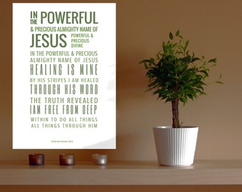 Christian Wall Art, Christian Gifts, Christian Prints, Christian Art, Framed Print, Isaiah 53:5, Healing is Mine
