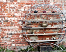 Industrial Freestanding Round Shelving Unit