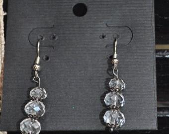 Handmade Crystal Dangle Earrings
