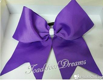 "Full size cheer bow uk, cheer bow, Team Dance Bow, 3"" ribbon bow, Cheerleader bow"