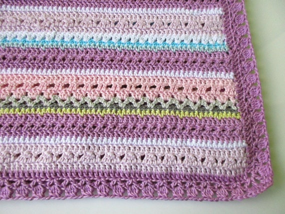 Crochet Fantasy : Fantasy crochet baby blanket pattern,?Pretty pastel?baby blanket ...