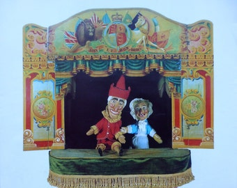 Punch & Judy Collectable Poster - Museum of London - 585x525mm - 1980s