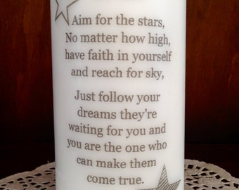 Personalized Candle, To my son Candle, Decorated Candle, Scented Candle, Pillar Candle,