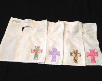 Little Girl Jesus Cross Bibs