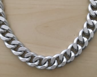 Lux Matte Chunky Silver Chain Necklace