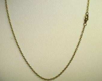 """Brass Curb Chain 18"""""""