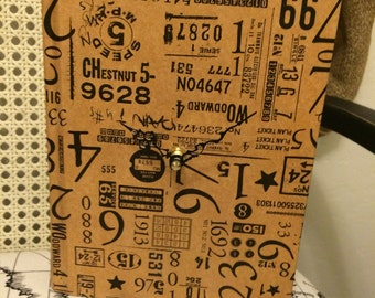 Upcycled Book Clock