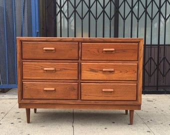 Mid Century Dresser in Oak