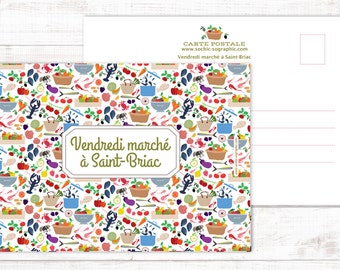 "Postcard ""Marché à Saint-Briac"""