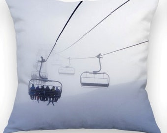 SALE!!!Snow Chair Lift Scene..Made from a lovely soft flock material..