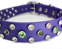 Beautiful on Brindle Dog Collar ~Big Dog Bling that is Waterproof - Durable - Secure - Comfy ~ Biothane & Swarovski Crystals