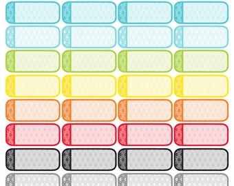 Diamonds Quarter Box Stickers