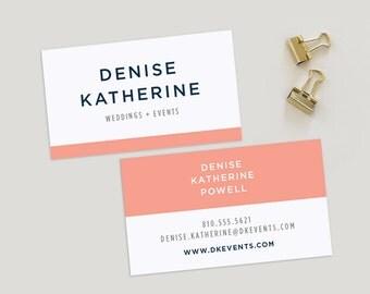 Simple Colorblock Business Card | Custom Business Cards, Simple Business Card, Business Card Design, Classic Business Card, Business Card