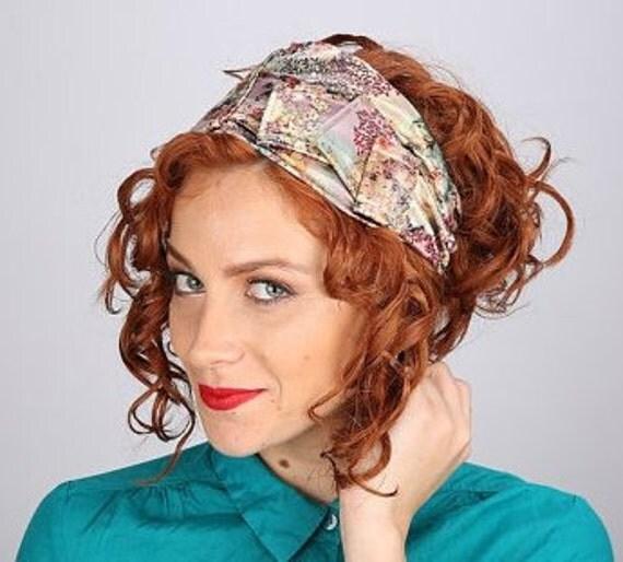 Church Hat/Floral Hair Band/Winter Fashion/Gardening Hat/Ski Headband/Soft & Comfortable/Geometric Pattern/Music Festival/Gift For Sister