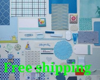 Nephew kit. Smash journal kit. Scrapbook kit. Junk journal kit. Nephew theme art kit. Papercrafting kit. Paper ephemera kit. Free shipping.