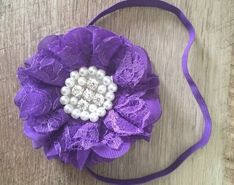 Sale** (pick 2) Vintage Lace and pearl flower Headbands