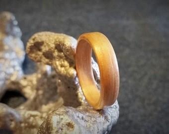 Pearwood Bent Wood Ring