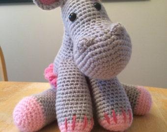 Gina the ballerina hippo crochet toy
