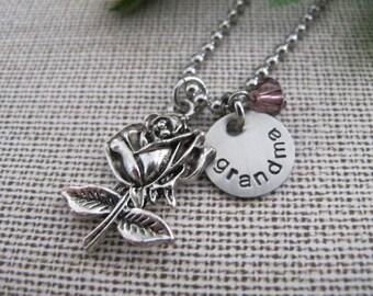 Grandma Necklace - Hand Stamped Jewelry - Personalized Jewelry - Gift for Grandma - Mother Necklace - Nana Mimi