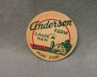 Anderson Farm Grade A Raw Milk Bottle Cap