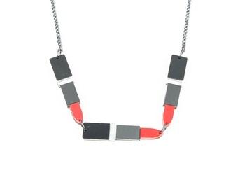 lipstick necklace  - laser cut acrylic lipstick necklace - plexiglass necklace - red lipstick