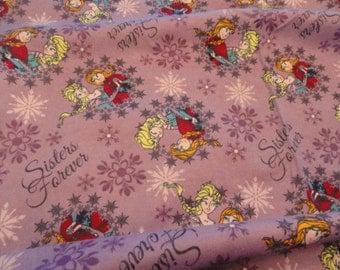 Disney Frozen Sister's Flannel by the yard