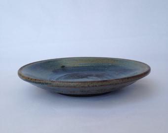 Blue Handmade Ceramic Platter, Ceramic platter, Pottery platter