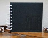 2016 Black Cover Letterpress Wire Bound Photo Album for 4x4 Square Pictures