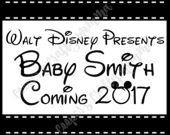 Disney Baby Announcement, Disney Pregnancy Announcement
