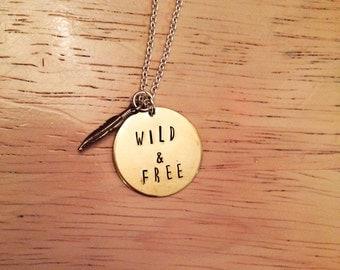 Wild & Free Handstamped Necklace