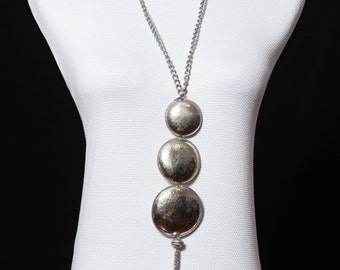 Ethnic style necklace antique silver (14gr.)