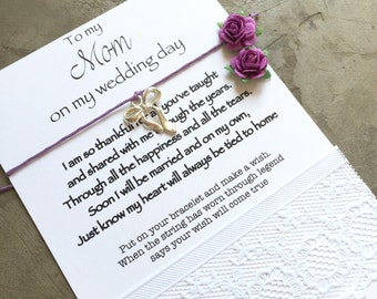 Mother of the Bride gift, Mother bracelet, Tie the knot bracelet, mother daughter, Wish bracelet, Mother of the bride bracelet, B12