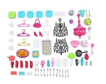 BARBIE Replacement Small Accessories Lot ~ Over 60 Pieces Parts